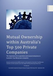 Mutual Ownership within Australia's Top 500 Private ... - CEMI