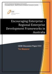 Regional Enterprise Development Frameworks in Australia - CEMI