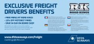 exclusive freight drivers BeNefits - DFDS Seaways