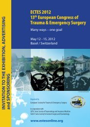 ECTES 2012 13th European Congress of Trauma & Emergency ...