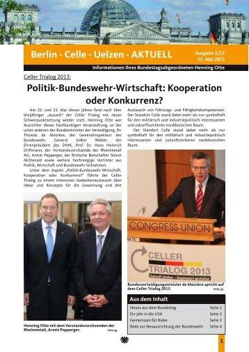Berlinbrief Ausgabe 3/2013 - Henning Otte, MdB