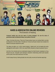 Hass & Associates Online Reviews on the Evolution of Hacking