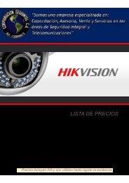 Lista Hikvision