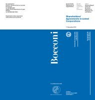 Shareholders' Agreements in Listed Corporations - Università degli ...