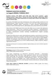 Najlepsze wzorniczo produkty na targach DREMA i ... - arena DESIGN
