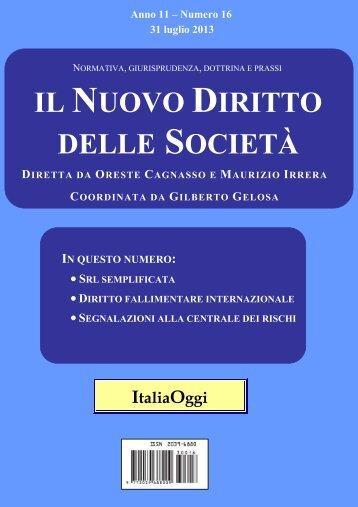 """""""Novissime"""" modifiche alla disciplina delle s.r.l.s. - Diritto Societario ..."""