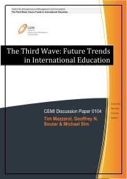 The Third Wave: Future Trends in International Education - CEMI