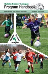 Click here for PDF of DSL Program Handbook - Dublin Soccer League