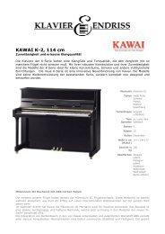 KAWAI K-2, schwarz poliert - Klavier Endriss