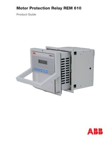 Voltage protection relay reu 610 ape distribuidor abb for Abb motor protection relay catalogue