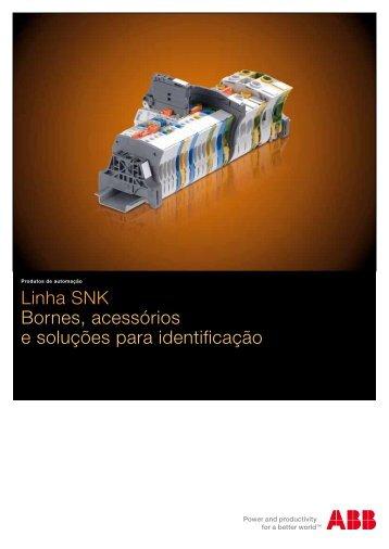 Linha SNK Bornes, acessórios e soluções para identificação - APE ...