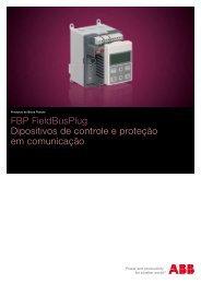 FBP FieldBusPlug Dipositivos de controle e proteção em comunicação