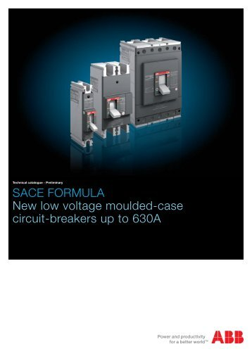 SACE FORMULA New low voltage moulded-case circuit-breakers ...