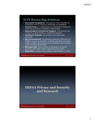HIPAA Privacy and Security and Research