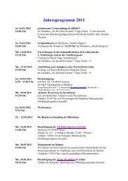 Jahresprogramm 2011 - KKV-Beckum