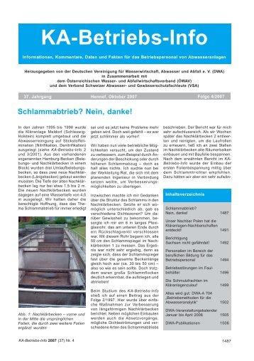 KA-Betriebs-Info - DWA Landesverband Sachsen/Thüringen