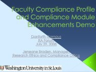 Faculty Compliance Profile Roles, Responsibility and Process