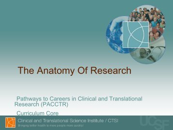 The Anatomy Of Research - Accelerate