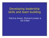 Developing leadership skills and team building
