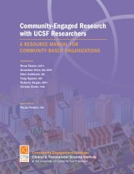 Community-Engaged Research with UCSF Researchers - Accelerate