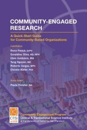 COMMUNITY-ENGAGED RESEARCH - Accelerate - University of ...