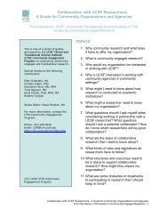 FAQs for UCSF Researchers working with Community ... - Accelerate