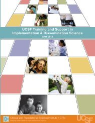UCSF Training and Support in Implementation ... - Accelerate