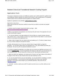Resident Clinical and Translational Research Funding ... - Accelerate