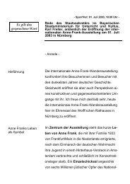 Rede des Staatssekretärs im Bayerischen ... - Freller, Karl