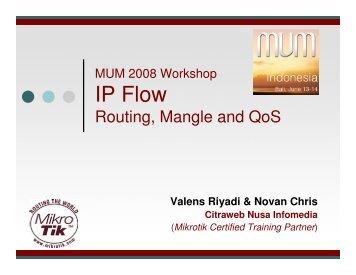 IP Flow - MUM - MikroTik