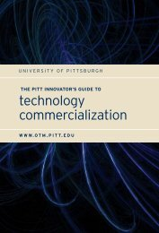 The Pitt Innovator's Guide to Technology Commercialization
