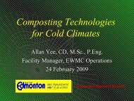 Cold Climate Composting Characteristics