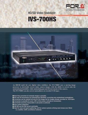 An HD/SD multi bit rate digital video stabilizer, the IVS ... - America