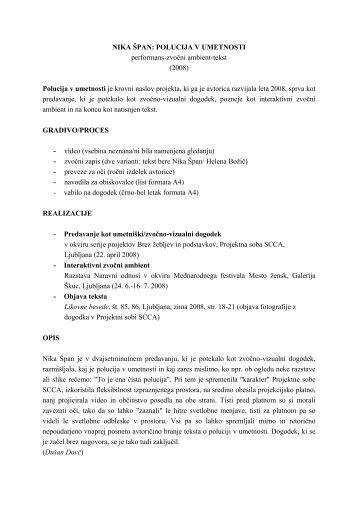 Opis (pdf) - SCCA-Ljubljana