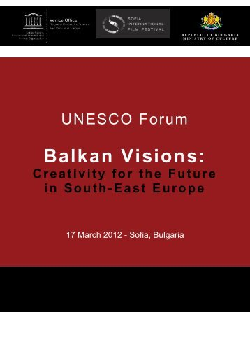 Program UNESCO Sofia Meetings Forum (pdf) - SCCA-Ljubljana