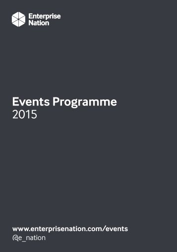 Enterprise Nation Events Programme