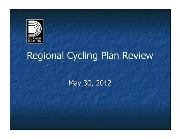 Regional Cycling Plan Review - Share The Road