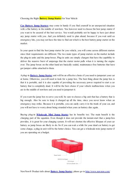 Choosing the Right Battery Jump Starter for Your Vehicle.pdf