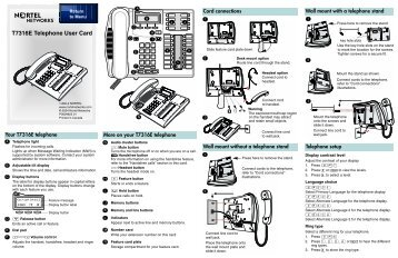 nortel phones t7316e user manual