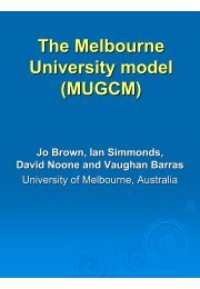 The Melbourne University model (MUGCM)