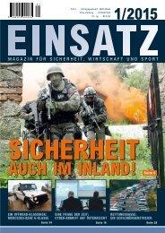 Einsatz 1/2015, Magazin für Sicherheit, Wirtschaft und Sport