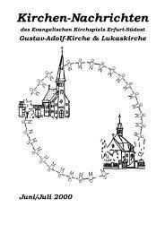 06 / 07 - Evangelische Kirchen in Erfurt