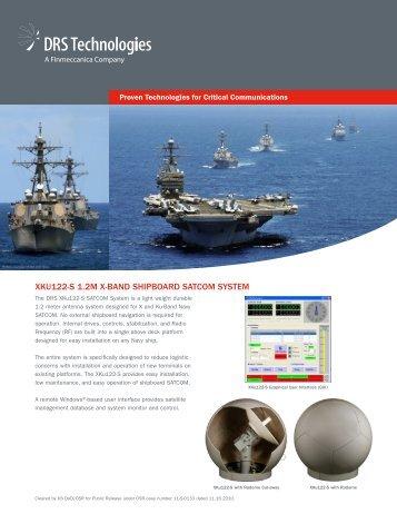 xku122-s 1.2m x-band shipboard satcom system - DRS Technologies