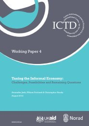 Taxing the Informal Economy - ICTD