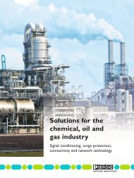 solutions for the chemical, oil and gas industry - Phoenix Contact