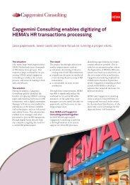 Capgemini Consulting enables digitizing of HEMA's HR transactions ...