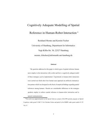 Cognitively Adequate Modelling of Spatial Reference in Human ...