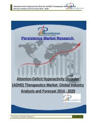 Attention-Deficit Hyperactivity Disorder (ADHD) Therapeutics Market: Global Industry Analysis and Forecast 2014 - 2020