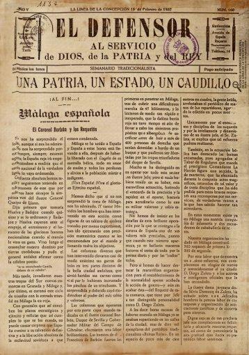 El Defensor del 15 de febrero de 1937