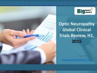 Analysis on Optic Neuropathy Market Global Clinical Trials Review, H1, 2015